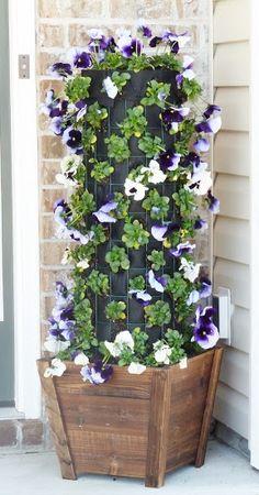Flower Tower| DIY Flowerpot