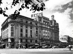 Hotel Regis colapsado en el terremoto de 1985. Momento triste.