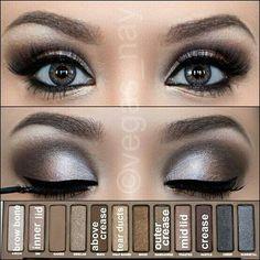 Naked 1 pallet look, eyeshadow