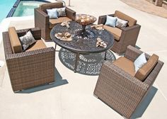 The Taryn Collection All Weather Wicker 5-Piece Patio Furniture Deep Seating Set With Drink Table . $3132.40