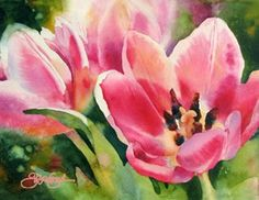 Pink Poppies by Susan Crouch