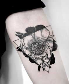 Poppy Flower Tattoo Black - Flowers Ideas