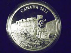 2011 $20  Fine Silver Coin D-10 Locomotive