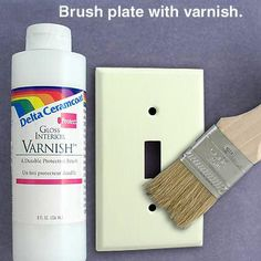 how to paint light switch covers