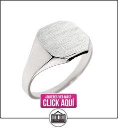 Pequeños Tesoros - Anillos Hombres Alianza De Boda 10 Kt Oro Blanco 471/1000 Engravable Sortija De sello  ✿ Joyas para hombres especiales - lujo ✿ ▬► Ver oferta: http://comprar.io/goto/B0124L1R7W