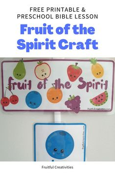 This craft is super easy, yet your child will love having this in their room! Such a beautiful reminder of the fruit of the Spirit. #biblecraft #kidscraft #preschool #fruitofthespirit Preschool Bible Lessons, Bible Crafts For Kids, Bible Lessons For Kids, Bible Activities, Easy Crafts For Kids, Preschool Activities, Sunday School Activities, Christian Kids, Fruit Of The Spirit