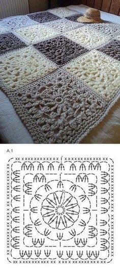 33 Patrons de Crochet pour Couvertures   Crochet et plus…                                                                                                                                                     Más