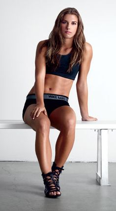 Alex Morgan. Gorgeous body that proves it's about health, muscle, and some curves. Not being stick thin!