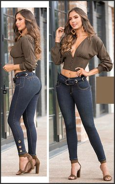 Sexy Outfits, Girl Outfits, Cute Outfits, Estilo Megan Fox, Denim Fashion, Girl Fashion, Mode Rockabilly, Best Jeans, Girls Jeans