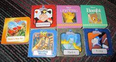 LOT OF 7 MINI DISNEY BOARD BOOKS / PILBOOKS, BAMBI, TOY STORY, LION KING + GUC