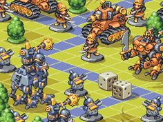Dreamy turn-based tactics game (mock-up) ⊟ Mentioning GBA classics like Final Fantasy Tactics Advance in the last TinyCast had me pining for. Game Concept, Concept Art, Final Fantasy Tactics Advance, How To Pixel Art, Pixel Characters, Minions, Isometric Art, Pixel Art Games, Fanart