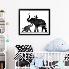 Elephant family print Baby on elephant Baby room decor Baby announcement pregnancy announcement grandparents Mom and baby Wall art Home Decor Boho Chic Living Room, Decor Home Living Room, Baby Room Decor, Home Decor, Elephant Baby Rooms, Elephant Family, Nursery Themes, Nursery Art, Nursery Decor
