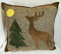 Genuine Leather and Wool Deer in the Woods by NessasNest on Etsy
