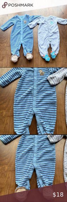 Petit Papillon Nativity Pajamas Boys Blue Long Sleeve Shirt and Pants Set
