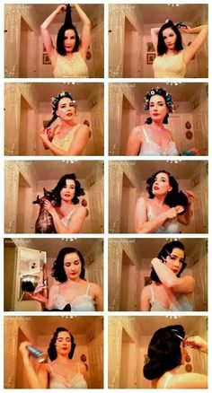 How Dita von Teese does her hair