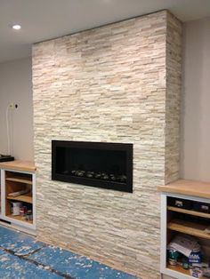 Tiling the Fireplace | One Project at a Time - DIY Blog