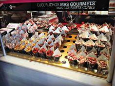 Au banc d'essai sur le blog, les salaminis Fantino & Mondello, qui rappellent les cornets de charcuterie qu'on trouvait au marché San Miguel à Madrid