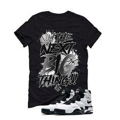 Nike Air Max 2 Uptempo 94 'White & Black' Black T (BIG THING) Nike Air Max 2, Matching Shirts, Street Wear, Big Thing, Mens Fashion, Mens Tops, T Shirt, Clothes, Black