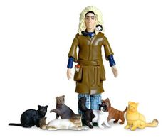 Crazy cat lady action figure... I actually own this.