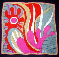 I can't make square scarfs feel right on me, but I love the colors and patterns.    Vera Neumann scarf, inspiration.