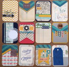 Travel Dozen Handmade Project Life Cards 3x4 by jessicabree