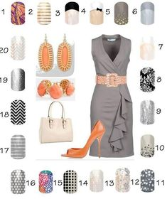 Complete your business attire with these beautiful nail wraps. They compliment any outfit from business casual to corporate.
