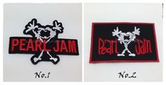 Pearl Jam Sew Iron On Patch Embroidered Logo Music Rock Band Heavy Metal Jacket