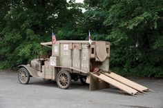 An example of a 1917 Ford Model T Ambulance, Photo Credit Darin Schnabel (c) 2010 Courtesy of RM Auctions.