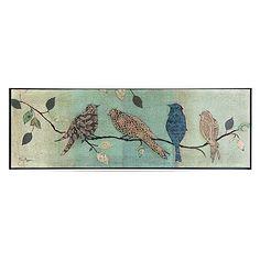 Dunelm Birds on Branch Crackle Effect Canvas Wall Canvas, Canvas Prints, Wall Art, Bird On Branch, Soft Furnishings, Office Decor, Vintage World Maps, Tapestry, Birds