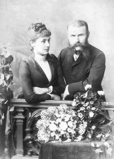 Their Royal Highnesses Prince Wilhelm and Princess Charlotte of Württemberg. Married: April 8, 1886