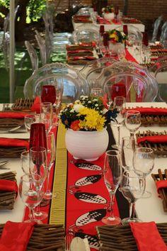Wedding Decorations, Wedding Ideas, Table Decorations, Wedding Reception Layout, Traditional Wedding Decor, African Theme, Wedding Table Settings, Event Decor, Charity