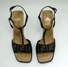 1980 shoes | 1980s Designer Fendi Vintage Shoes/Sandals UK Size 6.5/7