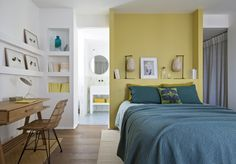 〚 Nature inspired colorful home in Corsica 〛 ◾ Photos ◾Ideas◾ Design Cosy Bedroom, Bedroom Decor, Interior Decorating, Interior Design, French Interior, Contemporary Interior, Beautiful Interiors, House Colors, Home Projects