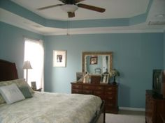 Tray ceiling paint idea