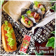 まぁ's dish photo 高校生息子弁当  りずちゃんのコッペパンでホットドッグ | http://snapdish.co #SnapDish #お弁当 #BENTO世界グランプリ2016 #お昼ご飯 #サンドイッチ #テーブルブレッド
