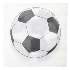 Serviette de table Foot papier les 20