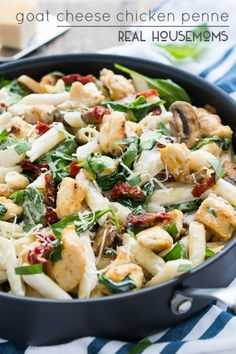 Goat Cheese Chicken Penne is creamy, flavorful, and will leave you feeling completely satisfied!