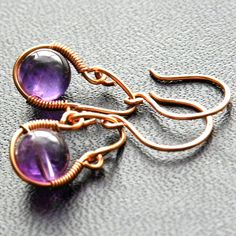 Antiquity Collection Handmade earrings Amethyst by KeyElement