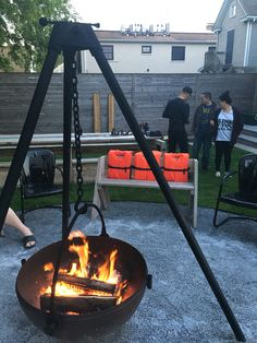 Awesome outdoor pit...Cowboy cauldron