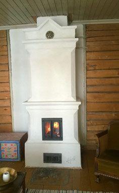 Varaava perinteinen tiilestä muurattu takka uuni Scandinavian Home, Decor, House, Home, Fireplace, Old Houses, Home Decor
