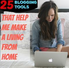 See 25 blogging tools that we actually use to help us make a living online! #blogging #career Career Tips