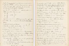 Page of Albert Einstein's notebook.
