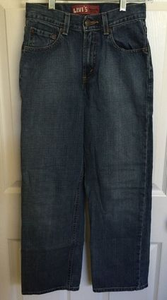 Levi's 550 Relaxed Fit Jeans 14 Slim 25 x 27 Boys | eBay