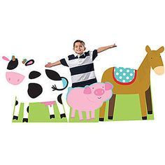Add our Barnyard Buddies Animal Standees to your farm themed celebrations. You will receive three cardboard animal props that are printed on one side.