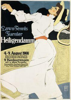 Hans Rudi Erdt, Lawn-Tennis Turnier / Heilgendamm, 1908
