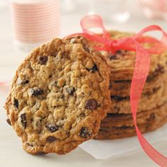 Chocolate Chip Cherry Oatmeal Cookies Recipe | Taste of Home