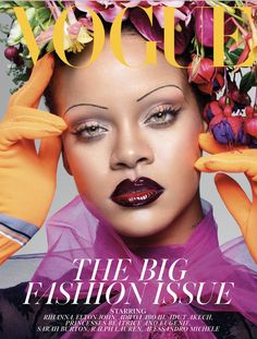 Rihanna is the first black woman to be on the cover of British Vogue's September issue in its 102-year history, and she's speaking real talk.