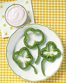 St. patrick's day snack.
