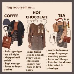 I'm a cross between coffee and tea bc I'm not a morning person nor am I inte. - I'm a cross between coffee and tea bc I'm not a morning person nor am I interested in astrology - Classy Aesthetic, Aesthetic Fashion, Look Fashion, Aesthetic Clothes, Fashion Outfits, Men Fashion, Fashion Tips, Retro Outfits, Vintage Outfits