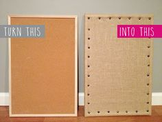 DIY Burlap Message Board - saw something similar on kitchen crashers and I really want to try it!!